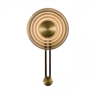 SKEN FUTURISTIC STYLISH GOLD CLOCK DISK WALL LIGHT