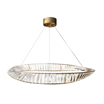 ANIMUS HIGH LUXURY HIGH CLARITY LUXE CRYSTAL SHARD WAVE HANGING CHANDELIER