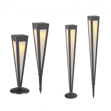CAROLINE TRIANGULAR WEATHER RESISTANT IP65 OUTDOOR GARDEN LIGHT (BOLLARD/ SPIKE)
