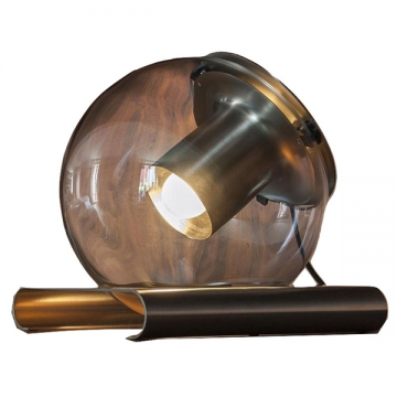DENVER CLEAR GLASS GLOBE WITH DOWNTHROW SPOTLIGHT TABLE LAMP