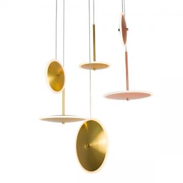EKINOX POSTMODERN UFO HANGING LIGHT (GOLD/ ROSE GOLD)