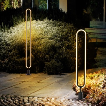 LEAH SLIM ELONGATED OVAL STANDING OUTDOOR IP54 LED LIGHT (SPIKE/ BOLLARD)
