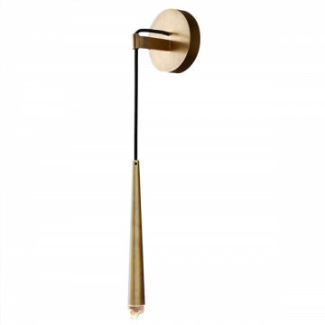 ALREN SLIM SEXY PROFILE WITH CRYSTAL TIP WALL LIGHT (BLACK/ GOLD)