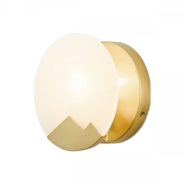 CLIFFORD COPPER AND SPANISH ALABASTER WALL EUROPEAN WALL LIGHT