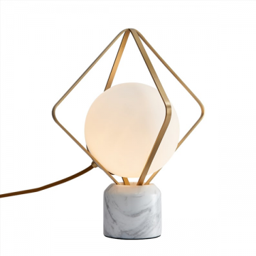 DYNASTY CLASSY FROSTED GLOBE GLASS TABLE LAMP
