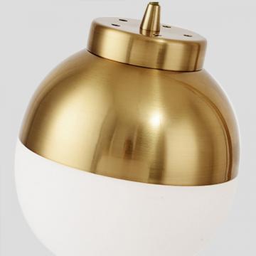 ELENA ELEGANT DESIGNER DANGLING FROSTED GLOBE GLASS GOLDEN FLOOR LAMP