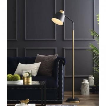 AERIA MINIMALIST CLASSIC FLOOR LAMP (BLACK/ WHITE)