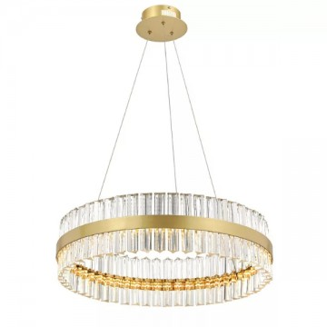 ALLIE MULTI-TIERED CASCADING GOLD CRYSTAL CHANDELIER