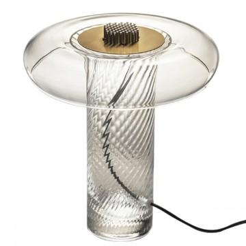 AYA ELEGANT PATTERNED BEDROOM GLASS TABLE LAMP