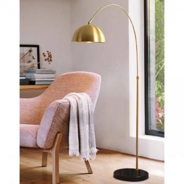 EXOS GOLD OVERHEAD CAP & BLACK MARBLE BASE FLOOR LAMP
