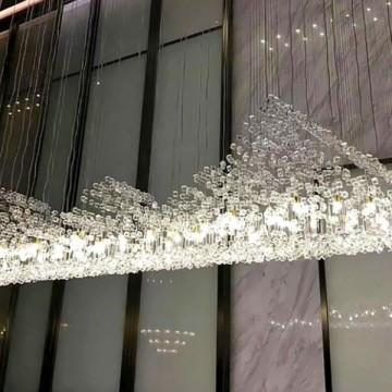 ZURIEL CUSTOMISED SCULPTURAL LIGHT DESIGN HANGING COLOURED ROCKS