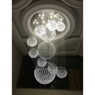 PRIMA DONNA HIGH CEILING MAJESTIC CRYSTAL CHANDELIER
