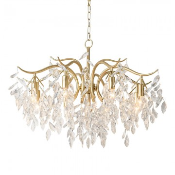 YRDEN TREE BRANCH CREATIVE GLASS LEAVES CHANDELIER