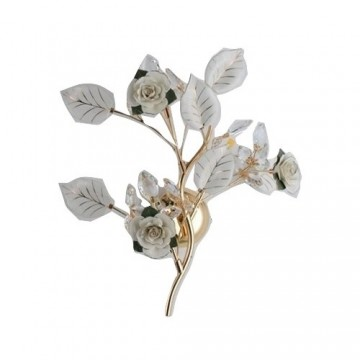 EDEN DECORATIVE ROSE FLOWER PETALS WITH CRYSTALS WALL LIGHT