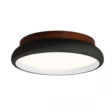 ARK NORDIC MINIMALIST ROUND WOODEN BASE CEILING LIGHT (BLACK/ WHITE)