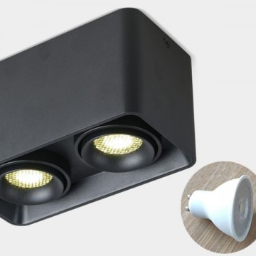 LUCENT MODERN SURFACE MOUNTED BOX DOWNLIGHT (BLACK/ WHITE)