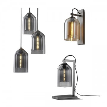 LUCET NORDIC MINIMALIST GLASS HANGING WALL LIGHT (PENDANT/ TABLE LAMP)