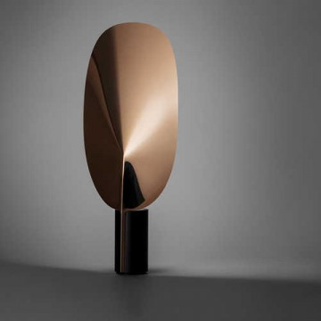 LUMIERE GLOSSY MIRROR REFLECTIVE ADJUSTABLE BLADE TABLE LAMP