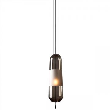 LUXULIA SLIM SLENDER GLASS BEDSIDE HANGING LAMP (BLACK/ AMBER/ WHITE)