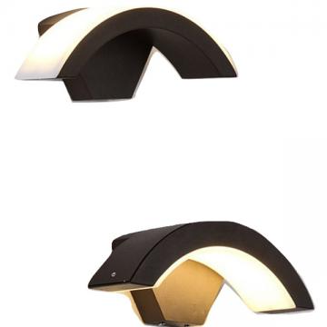 HEX OUTDOOR UP/DOWN THROW CURVE CAP (WALL LIGHT/ BOLLARD)