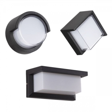 AETHER OUTDOOR  ACRYLIC SHADE WALL LIGHT (DIAMOND/ ROUND/ RECTANGLE)